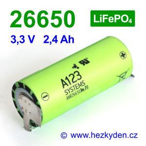 nanofosfatovNanofosfátová baterie akumulátor A123 ANR26650a-baterie-anr26650