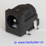 Napájecí konektor 2,1 mm SMD DPS