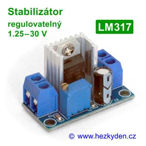 Napájecí modul - regulovatelný stabilizátor LM317