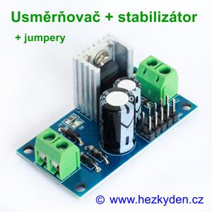 Napájecí modul - usměrňovač stabilizátor jumpery