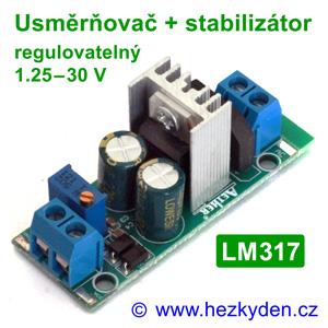 Napájecí modul - usměrňovač stabilizátor - regulovatelný