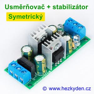 Napájecí modul - usměrňovač stabilizátor symetrický
