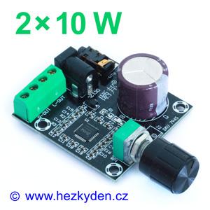 NF zesilovač 2x10W s potenciometrem