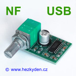 NF zesilovač 2x3W s potenciometrem