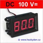 Panelový digitální voltmetr LED 100V