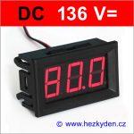 Panelový digitální voltmetr LED 136V