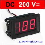 Panelový digitální voltmetr LED 200V