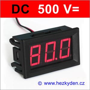 Panelový digitální voltmetr LED 500V