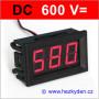 Panelový digitální voltmetr LED 600V