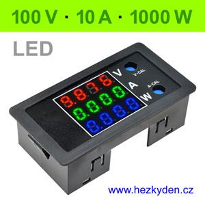 Panelový digitální voltmetr ampérmetr wattmetr DC