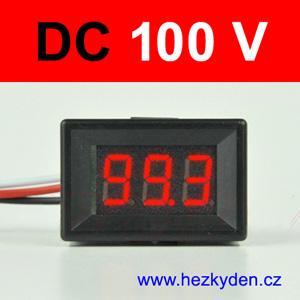 Panelový digitální voltmetr LED 3 místa Compact - červený