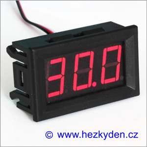 Panelový digitální voltmetr LED