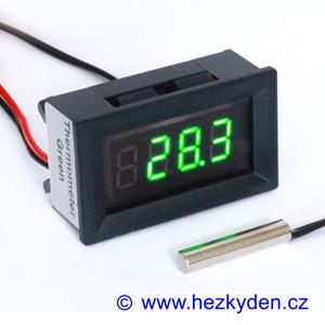 Panelový LED teploměr/termostat BY436