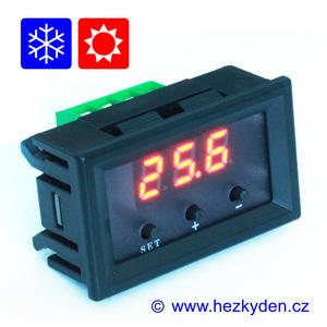 Panelový termostat W1209 červený