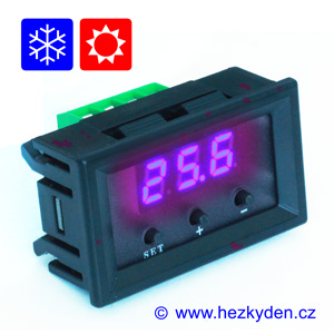 Panelový termostat W1209 modrý