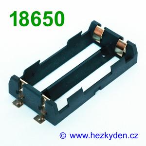 Pouzdro na baterie 18650 SMD - 2x