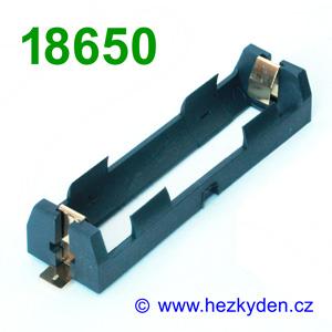 Pouzdro na baterie 18650 SMD