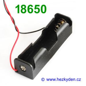 Pouzdro na baterie 1x 18650