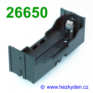 Pouzdro na baterie 26650 DPS