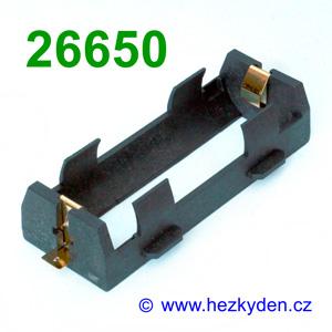 Pouzdro na baterie 26650 SMD