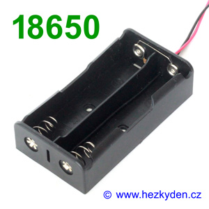Pouzdro na baterie 2x 18650 paralelně
