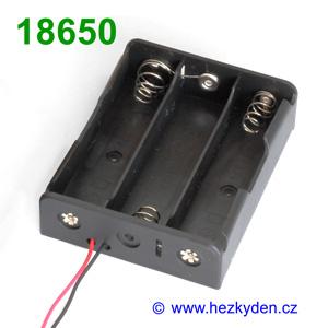 Pouzdro na baterie 3x 18650