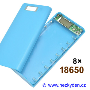 Powerbanka pro 8x Li-Ion 18650