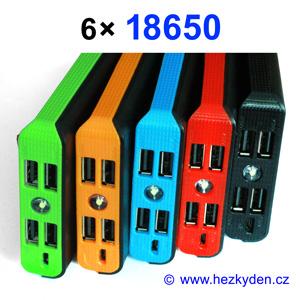 Powerbanky pro 6x Li-Ion 18650