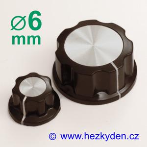 Přístrojový knoflík černý 6mm