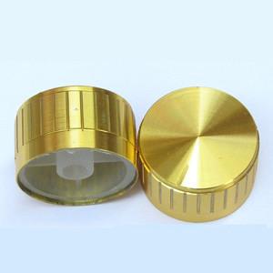 Přístrojový knoflík hliníkový zlatý 6mm