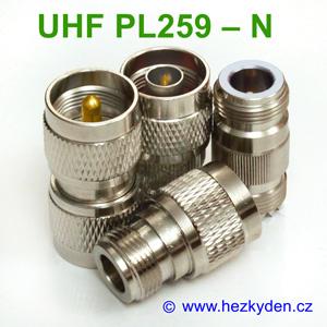 Redukce adapter UHF PL259 - N konektor