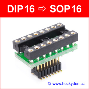 SMD reverzní adapter DIP16 SOP16