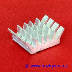 Hliníkový chladič samolepicí 13 x 14 mm - ježek