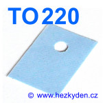 Silikonová izolační podložka TO220