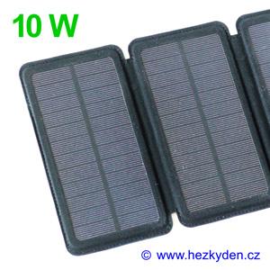 Skládací solární nabíječka 10 watt