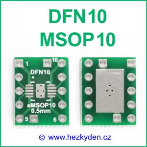 SMD adapter DFN10 MSOP10
