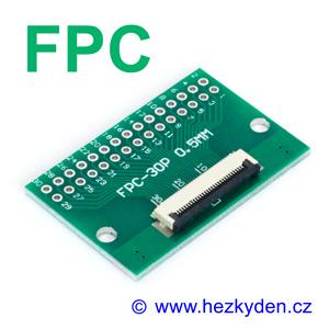 SMD adapter FPC osazený