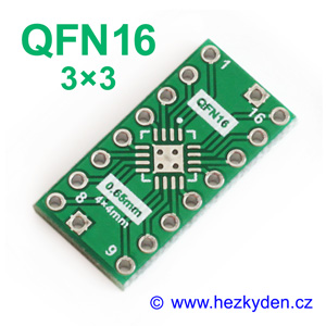 SMD adapter QFN16 3x3
