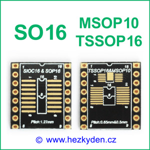 SMD adapter SOP16 MSOP10