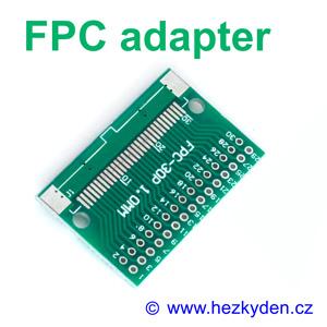 SMD adapter FPC FFC neosazený DPS