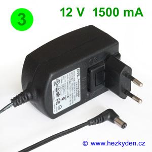 Spínaný zdroj adapter 12V 1500mA - varianta 3