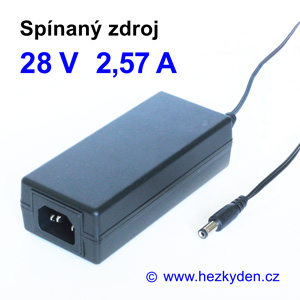Spínaný zdroj adapter 24V 2,57A