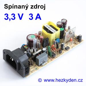 Spínaný zdroj modul 3,3V 3A