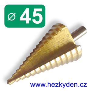 Stupňovitý vrták 45mm (3mm)