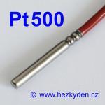 Teplotní senzor Pt500 s kabelem