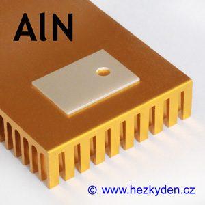 Teplovodivá superkeramická izolační podložka ALN TO220