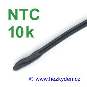 Termistor NTC 10k s kabelem - fluidizovaný senzor