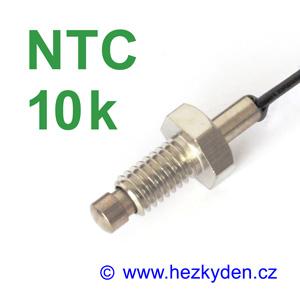 Termistor NTC 10k senzor teploty šroub M6x10 mm nerez