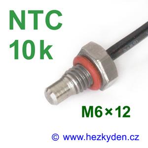 Termistor NTC 10k senzor teploty šroub M6x12 mm nerez