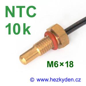 Termistor NTC 10k senzor teploty šroub M6x18 mm mosaz